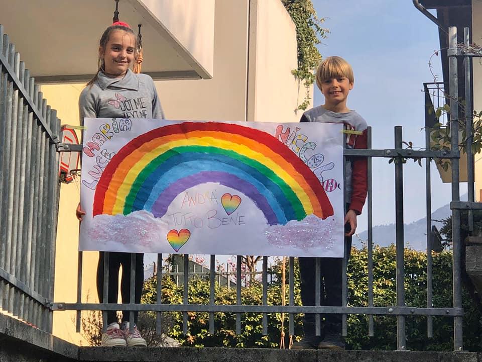L'arcobaleno di speranza di due nostri giovani cestisti